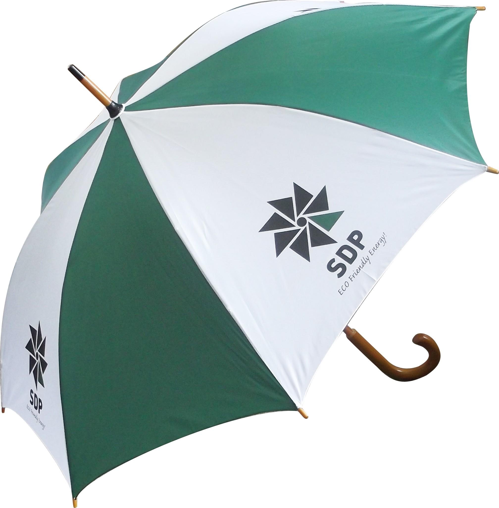Printed Promotional Classic Wood Crook Umbrella