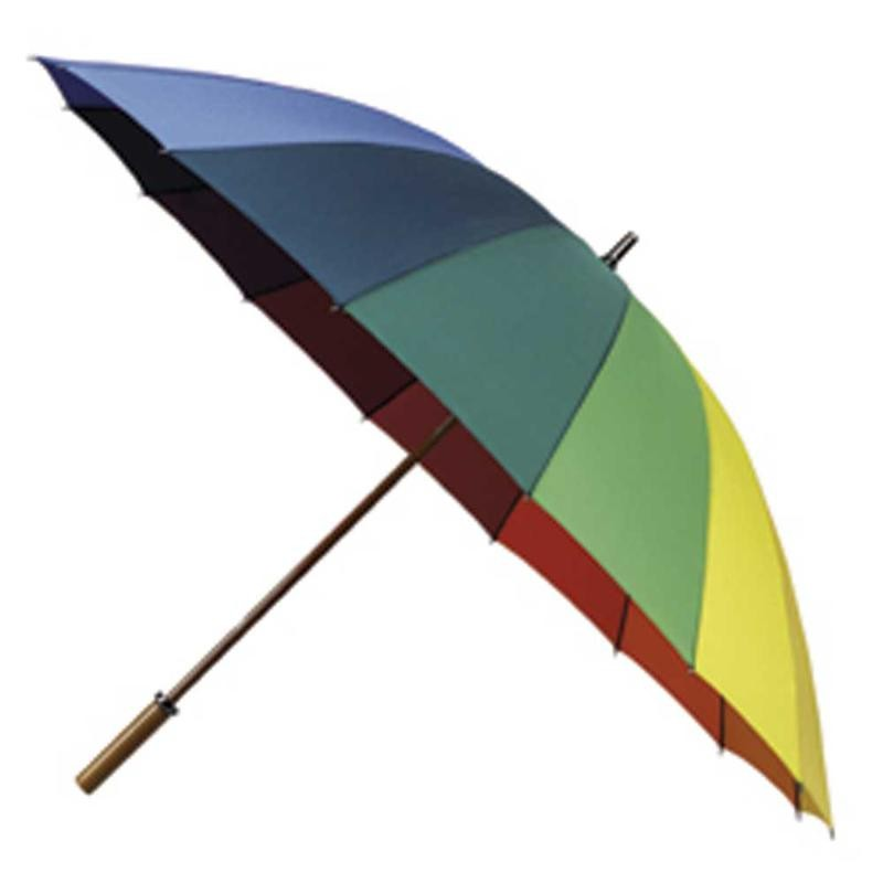 Printed Promotional Rainbow Golf Umbrella