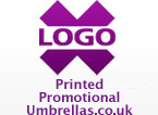 Printed Promotional Budget Umbrellas from Logo X